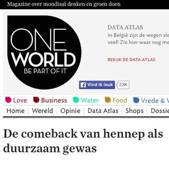 Dutch Harvest hennepthee in Oneworld