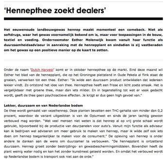 Hennepthee dealers gezocht