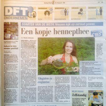 Hennepthee crowdfunding campagne in de Telegraaf