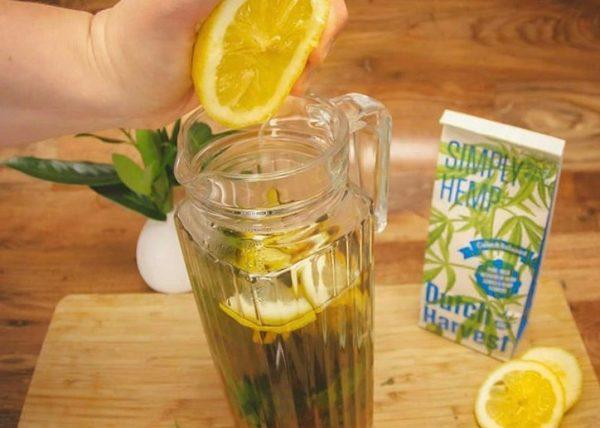 Hennepthee verse gemberthee ijsthee met citroen