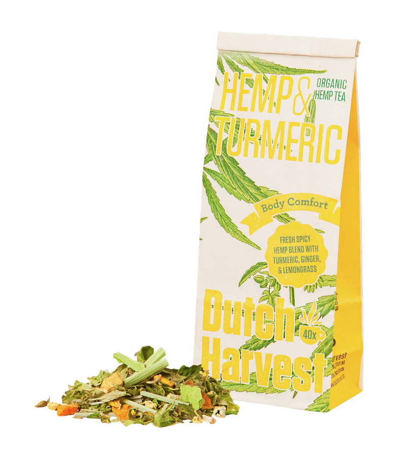 Buy hemp tea turmeric tea ginger tea Dutch Harvest